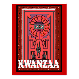 Kwanzaa - Tribal effigy Postcard
