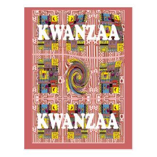 Kwanzaa - Twriling village life Postcard