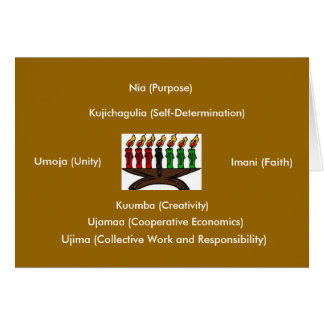 kwanzaa, Umoja (Unity), Kujichagulia (Self-Dete... Card