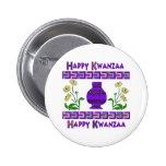 Kwanzaa Vase 2 Inch Round Button