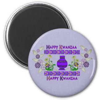 Kwanzaa Vase 2 Inch Round Magnet