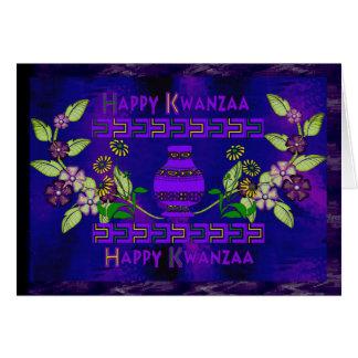 Kwanzaa Vase Card