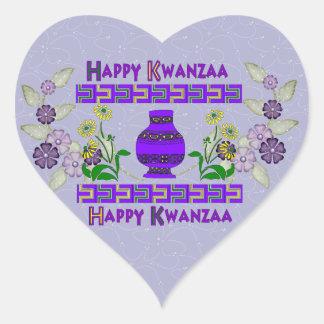 Kwanzaa Vase Heart Sticker