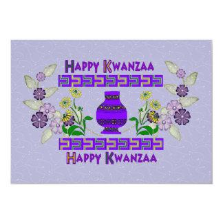 Kwanzaa Vase Invitation