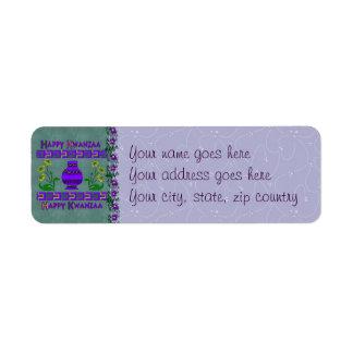 Kwanzaa Vase Label