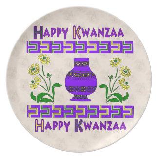 Kwanzaa Vase Party Plate