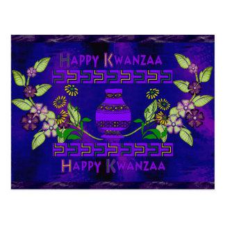 Kwanzaa Vase Postcard
