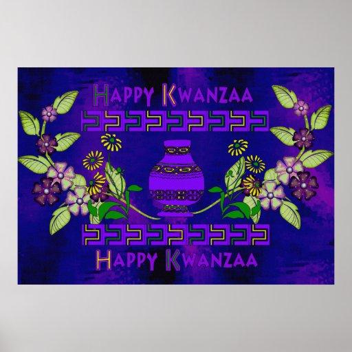 Kwanzaa Vase Poster