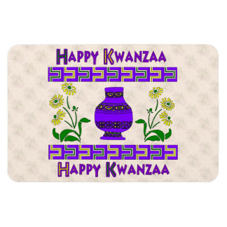 Kwanzaa Vase Rectangular Photo Magnet