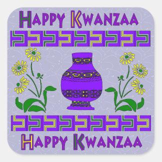 Kwanzaa Vase Square Sticker