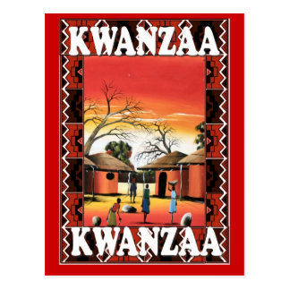 Kwanzaa - Village centre Postcard