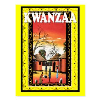 Kwanzaa -Village life Postcard