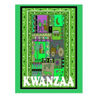 Kwanzaa - Village life Postcard