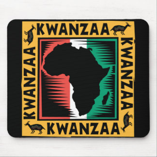 Kwanzaa with Africa Mouse Pad