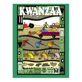 Kwanzaa - working in the fields postcard
