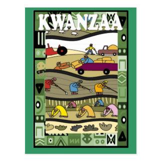 Kwanzaa - working in the fields postcard