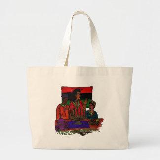 Kwanzza Celebration Coloring Art Jumbo Tote Bag