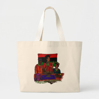 Kwanzza Celebration Coloring Art Large Tote Bag