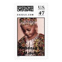 kwazaa 015, Kwanzaa by M.delly Postage