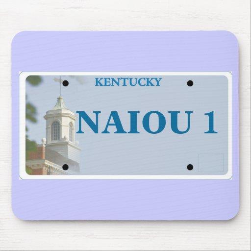 KWC License Plate, NAIOU 1 Mouse Pad