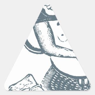 Kwei-cante Pegatina Triangular
