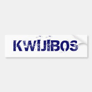 KWIJIBOS CAR BUMPER STICKER