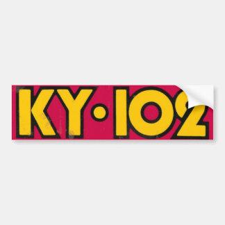 KY102 años 80 de parachoques de la escuela vieja Pegatina Para Auto