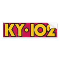 KY102 Old School Bumper Sticker-70's 80's Bumper Sticker
