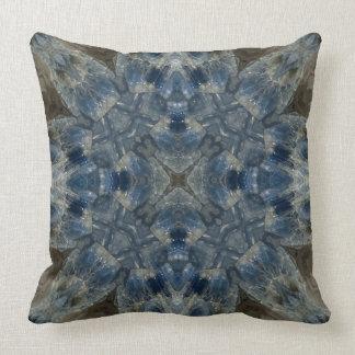 Kyanite I gemstone fractal art pillow