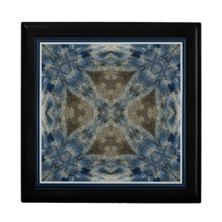 Kyanite II blue gemstone fractal design box