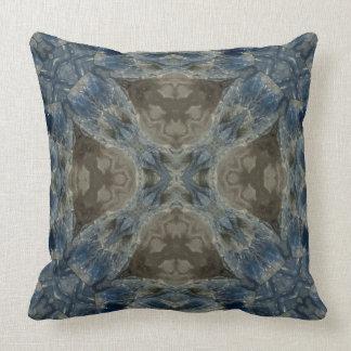 Kyanite II gemstone fractal art pillow