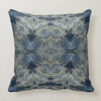 Kyanite III gemstone fractal art pillow