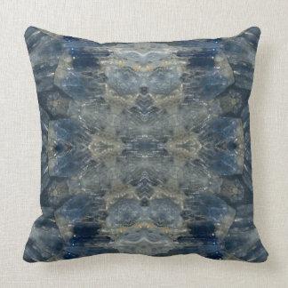 Kyanite IV gemstone fractal art pillow