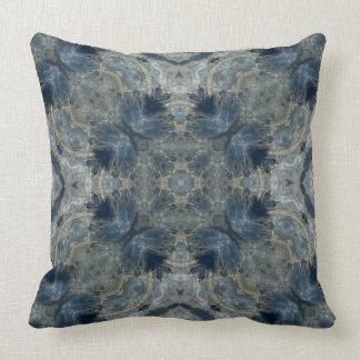 Kyanite VI gemstone fractal art pillow
