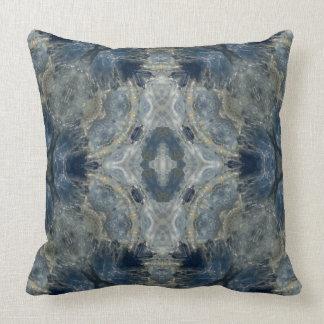 Kyanite VII gemstone fractal art pillow