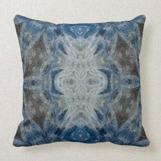 Kyanite XIV gemstone fractal art pillow