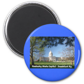 KYCA101.Ky State Capitol - Frankfort Ky. 2 Inch Round Magnet