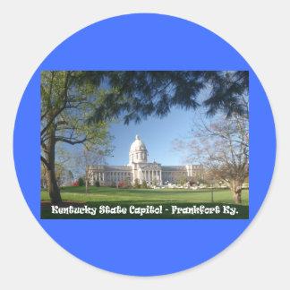 KYCA101.Ky State Capitol - Frankfort Ky. Classic Round Sticker