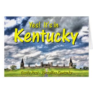 KYCA102.Castle Post - Versailles Ky. Greeting Card