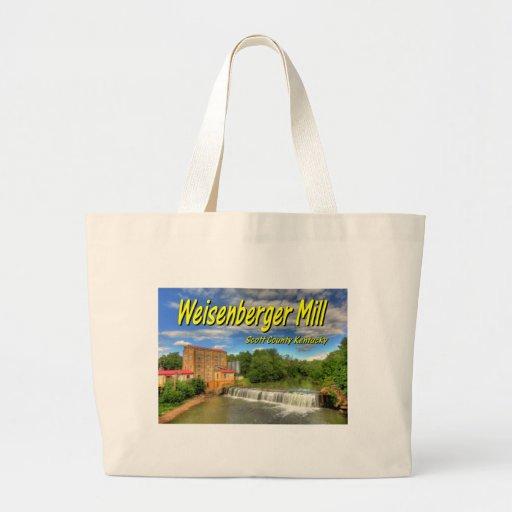KYCA103.Weisenberger Mill - Scott Co Ky.19x13.C. Canvas Bags