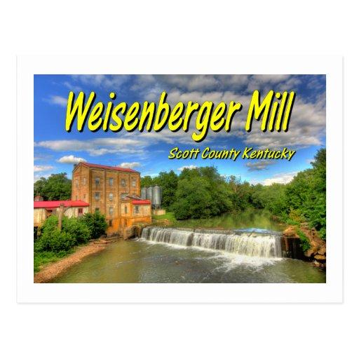 KYCA103.Weisenberger Mill - Scott Co Ky.19x13.C. Postcard