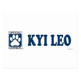 Kyi Leo Blue Postcard