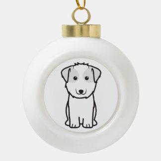Kyi-Leo Dog Cartoon Ceramic Ball Christmas Ornament