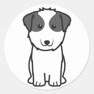 Kyi-Leo Dog Cartoon Classic Round Sticker