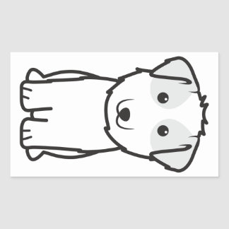 Kyi-Leo Dog Cartoon Rectangular Sticker