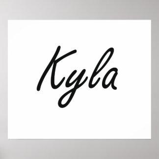 Kyla artistic Name Design Poster