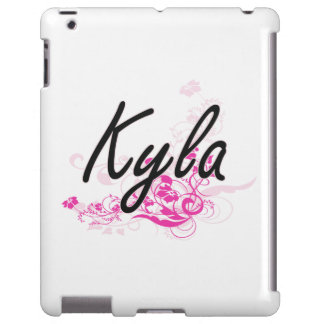 Kyla Artistic Name Design with Flowers