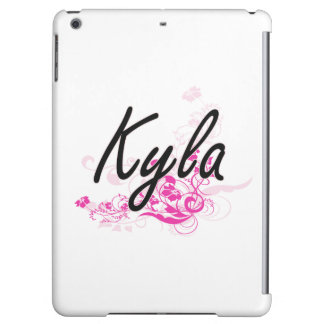 Kyla Artistic Name Design with Flowers Cover For iPad Air
