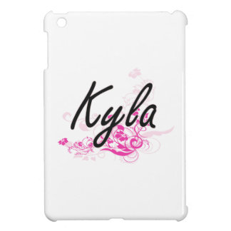 Kyla Artistic Name Design with Flowers Cover For The iPad Mini