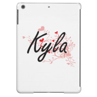 Kyla Artistic Name Design with Hearts Case For iPad Air